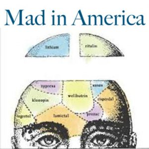 Mad In America logo and website link