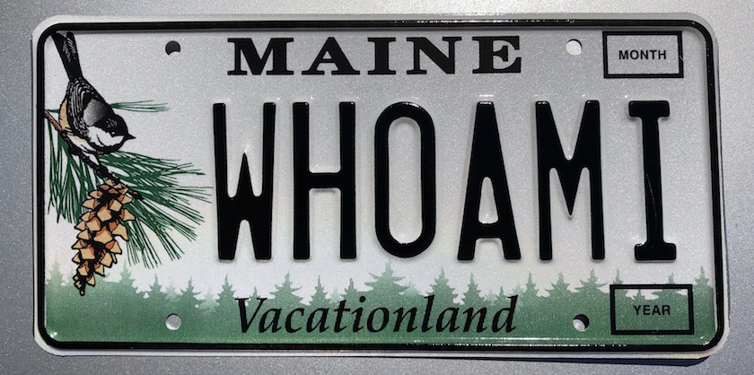 whoami license plate image